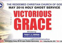 Note from May 2016 Holy Ghost Service -Theme: Victorious Grace