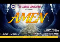 2016 RCCG CONVENTION: Prayer Points from Day 5 – Amen