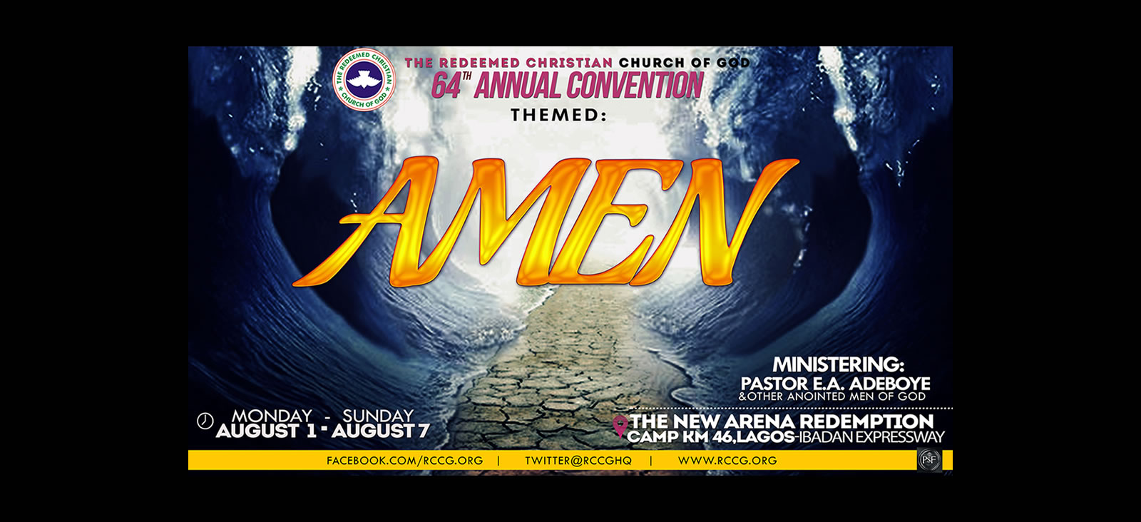 2016 RCCG CONVENTION: Prayer Points from Day 5 - Amen