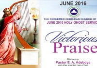 Full Text – 2016 June Holy Ghost Service