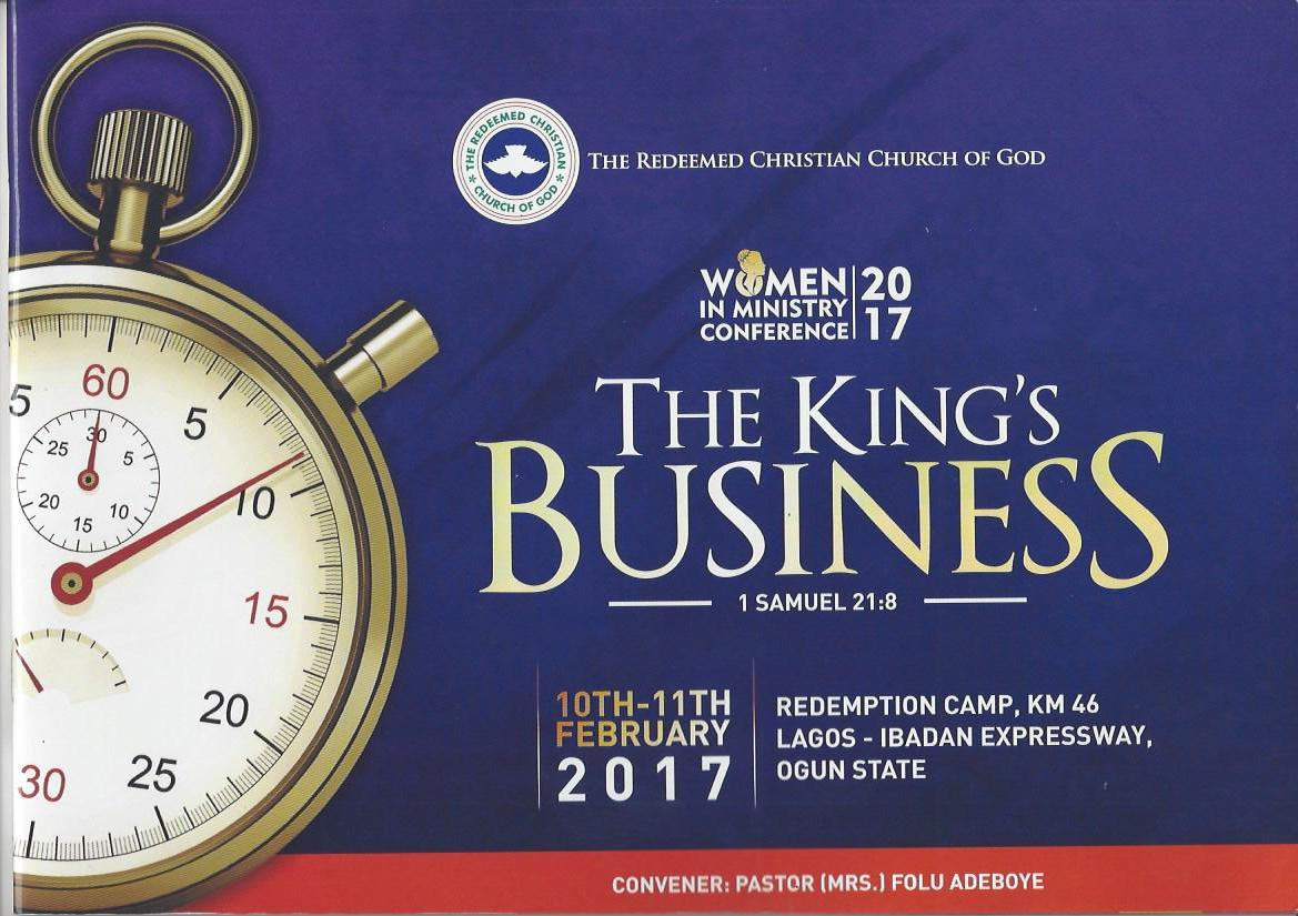 2017 RCCG Women in Ministry Conference - Theme: The King's Business