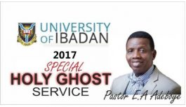2017 CAMPUS HOLY GHOST SERVICE – UNIVERSITY OF IBADAN