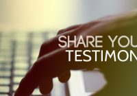 Share your Testimonies in any of RCCG Programs