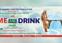 March Special Holy Ghost Service, Theme: Come and Drink