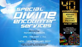 [Updated]SPECIAL DIVINE ENCOUNTER 2017 WITH PASTOR E. A. ADEBOYE (DAY 1)- mp3