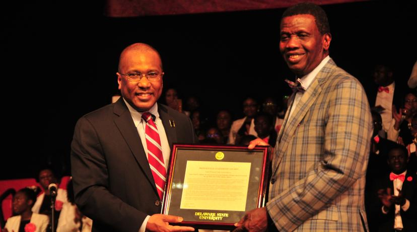 DSU honours Pastor E.A. Adeboye with President's Leadership Award