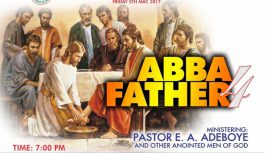 RCCG May 2017 Holy Ghost Service. Theme: Abba Father 4