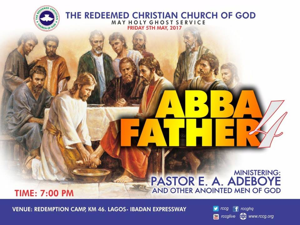 RCCG May 2017 Holy Ghost Service