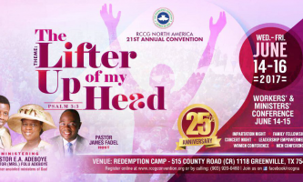 RCCG North America Convention 2017 – The Lifter of My Head