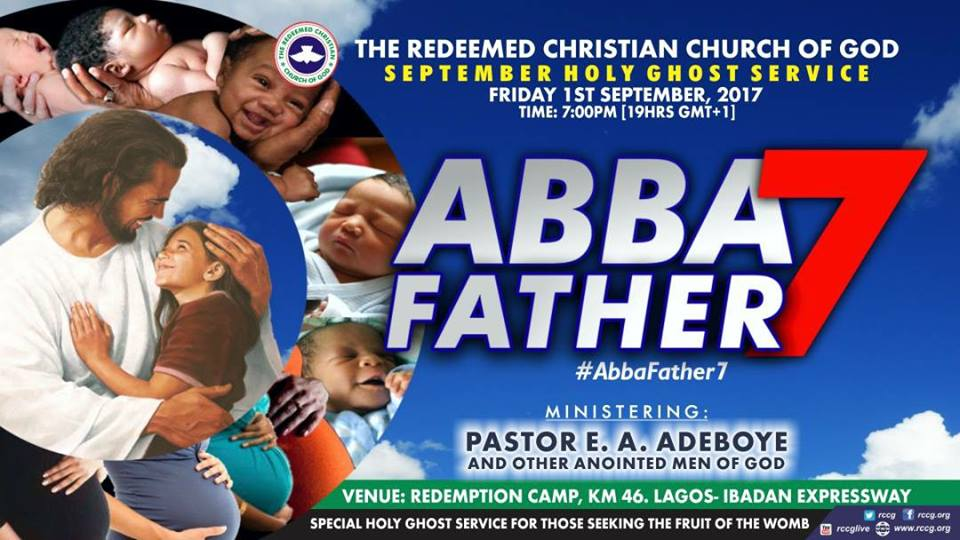 RCCG September 2017 Holy Ghost Service. Theme: Abba Father 7 MP3