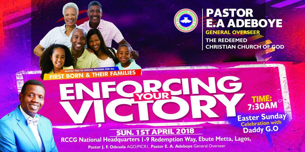 April 2018 Thanksgiving Service and Easter Sunday Celebration with