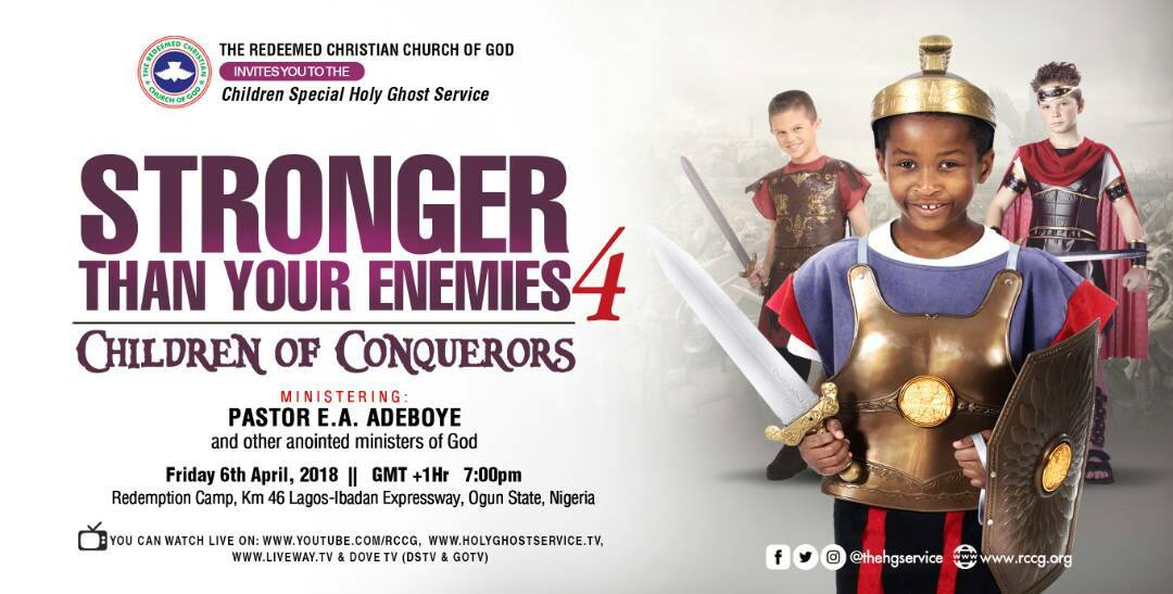 April 2018 Holy Communion Service - Stronger Than Your Enemies 4