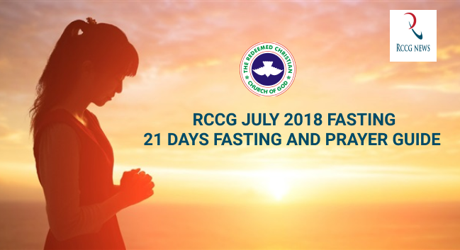 JULY 2018 21 DAYS FASTING AND PRAYER GUIDE